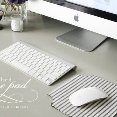 Fabric Covered Mousepad DIY {Home Office Accessories}
