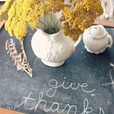 Fall Tablescape {thanksgiving centerpieces}