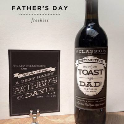 Father's Day Card and Labels {Father's Day Printables}