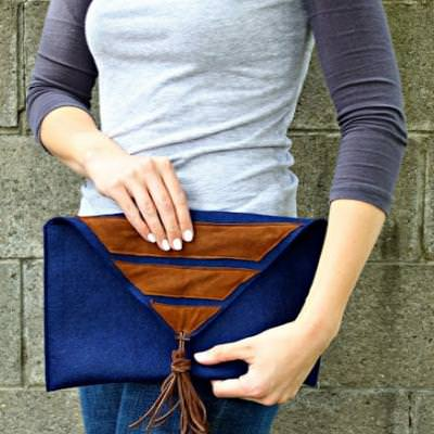 Felt and Suede Clutch {gifts}