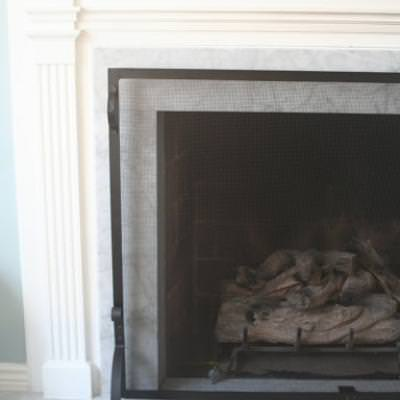 Fireplace Makeover {Before and After}