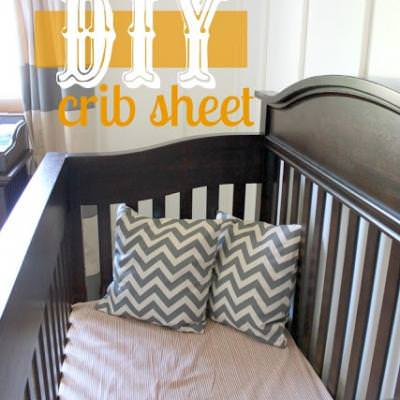 Fitted Crib Sheet Tutorial {Crib Bedding}