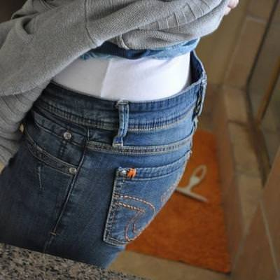 Fixing the Gap in the Back of Pants {Clothing Fixes}