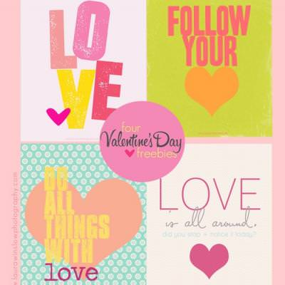 Four Valentine Quote Printables {Valentine Printable}