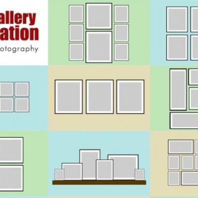 Gallery Wall Inspiration Chart {Picture Frames}