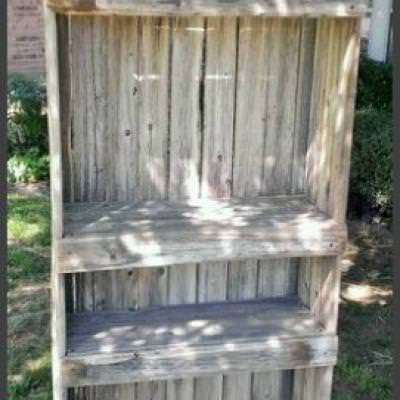 Garden Shelf from Old Fencing {Shelving}