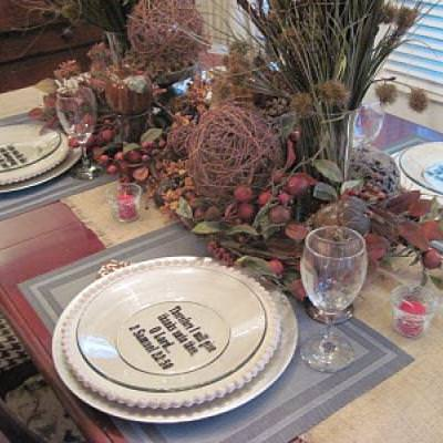 Giving Thanks Quote Dinner Plate {Thanksgiving Quote}