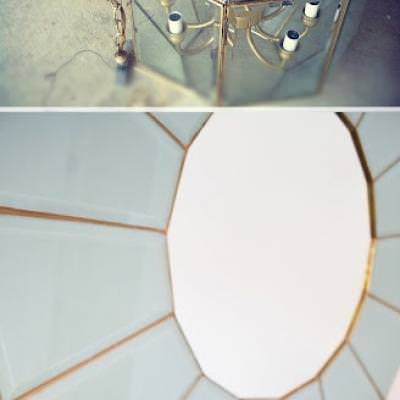 Glass Framed Mirror DIY {Mirrors}