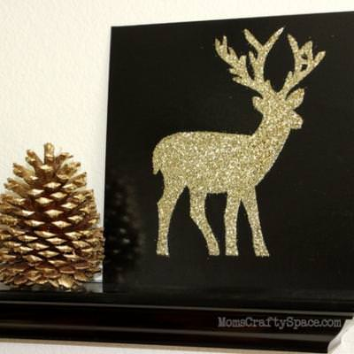 Glitter Dear Holiday Canvas {Christmas Crafts}
