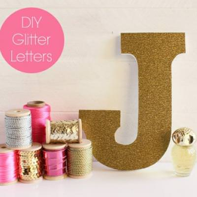 Glitter Letters For The Girly Girl's Decor {Kids Room Accessories}
