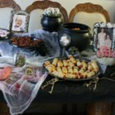 halloween food table on a budget halloween party ideas