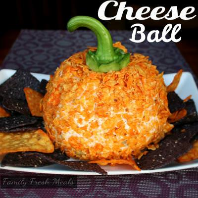 Halloween Pumpkin Cheese Ball {Recipes for Halloween}