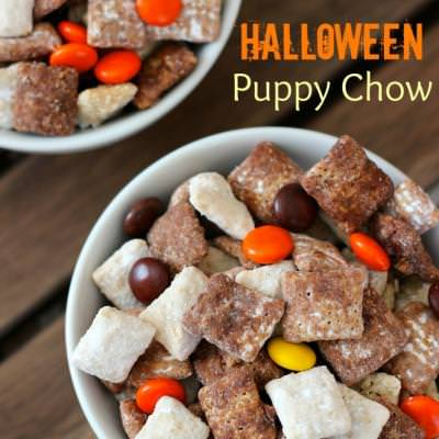 Halloween Puppy Chow {Halloween Food Recipes}