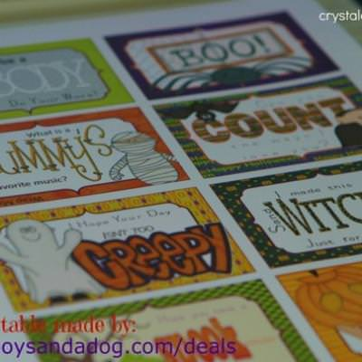 Halloween Themed Lunch Box Notes {Free Printables}