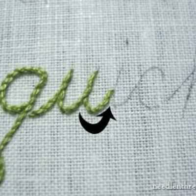 Hand Embroidering Script Fonts {Needlework}