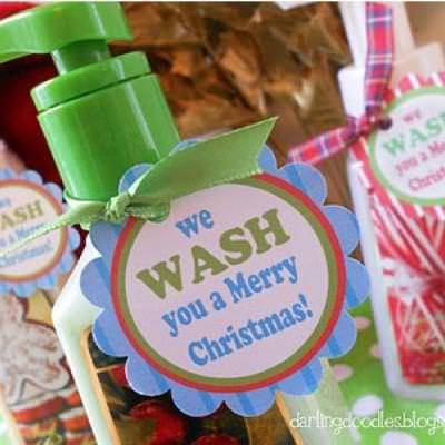 Handsoap Neighbor Gift {Free Printable}