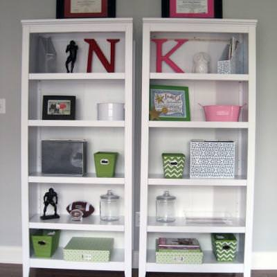 His & Hers Office Bookshelf Decor {Home Office}