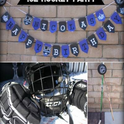 Hockey Themed Birthday Party {sports theme}