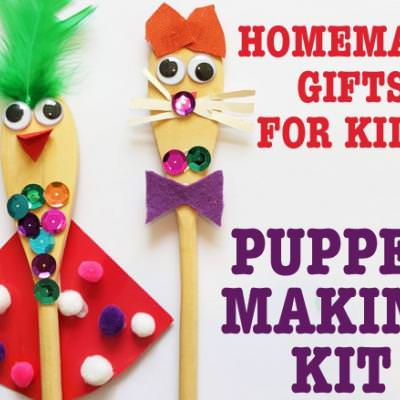 Homemade Puppet Making Kit {gifts for kids}