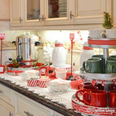 Hot Chocolate Station {Christmas Things}