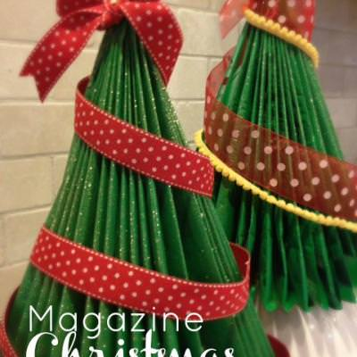 How to Make a Magazine Christmas Tree {Christmas DIY Decor}