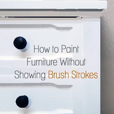 How to Paint Furniture Without Brush Stokes {Refinishing}