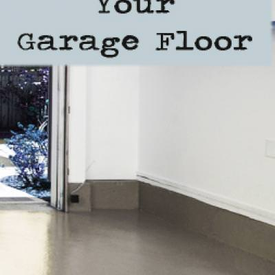 How to Paint Your Garage Floor {Painting Tips}