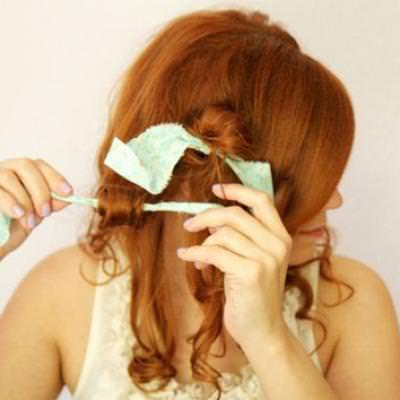 How to Rag Roll Your Hair {Hairstyles}