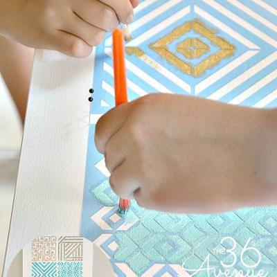 How to Stencil {Stenciling}