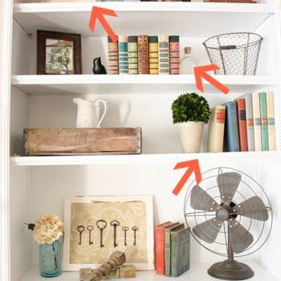 How to Style a Bookshelf {Shelving and Storage}