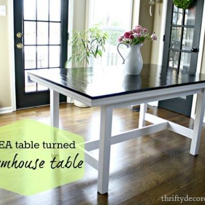 Ikea Table Turned Farmhouse Table {Tables}