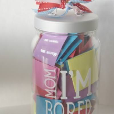I'm Bored Jar of Activities {Keeping Kids Busy}