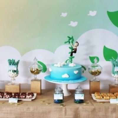 Jack and the Beanstalk 1st Birthday {book themed party}