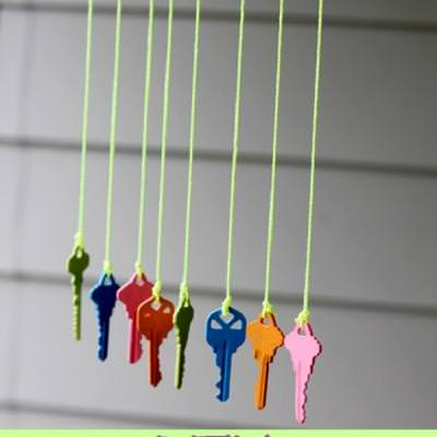 Key Wind Chime Craft {Arts and Crafts}
