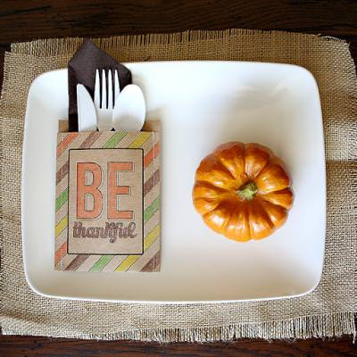 Kids Thanksgiving Place Setting {Thanksgiving Table}