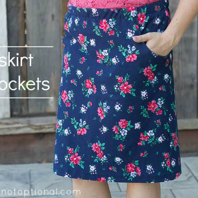 Knit Skirt with Pockets {Skirts}
