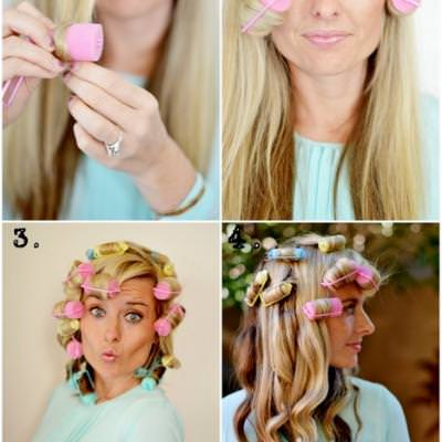 how to style your hair with rollers curls using foam rollers hair styling tips tip 8201