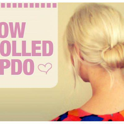 Low Rolled Updo Tutorial {Hair Styles}