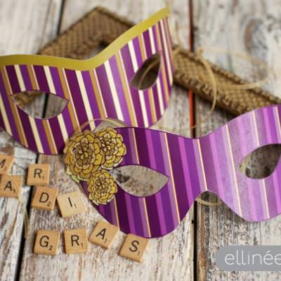 Mardi Gras Party Masks {free printable}