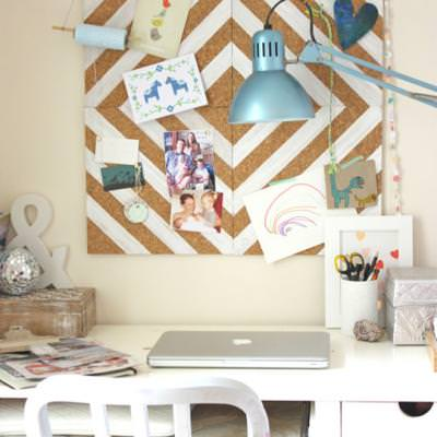 Modern Home Office Cork Board {Home Office}