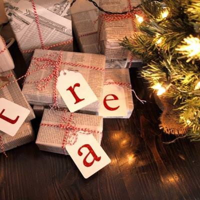 Newspaper and Twine Wrapping Idea {Holiday Gift Wrapping Idea}