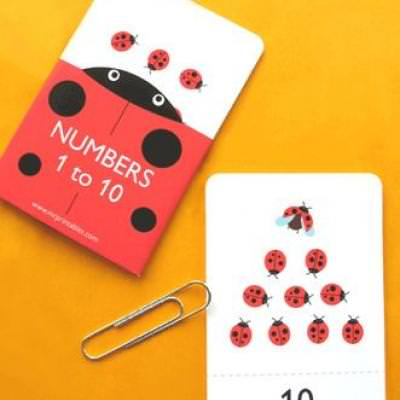 Numbers 1 to 10 Flash Cards {Numbers}