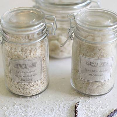 Oatmeal and Vanilla Body Scrubs {Skin Care}