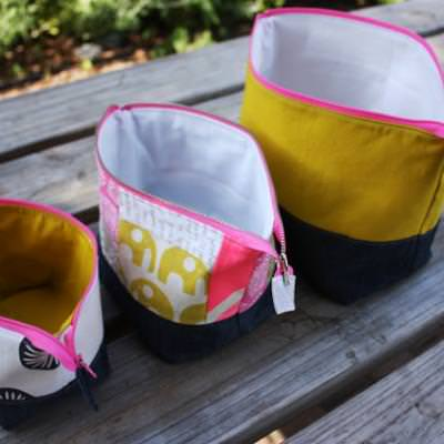 Open Wide Zippered Pouches {Accessories}