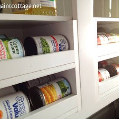 Organized Canned Food Storage {Kitchen Accessories}