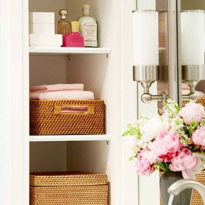 Organizing with Deep Shelves {Shelving & Storage}