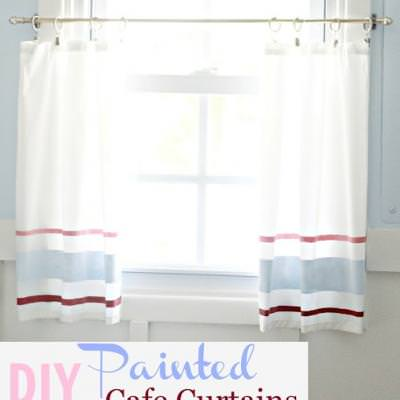 Painted Cafe Curtains {Curtains}