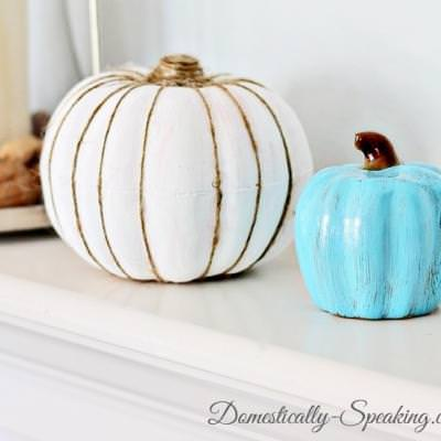 Painted Pumpkin with Twine {fall crafts}