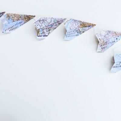 Paper Airplane Garland for Father's Day {Father's Day Gifts}