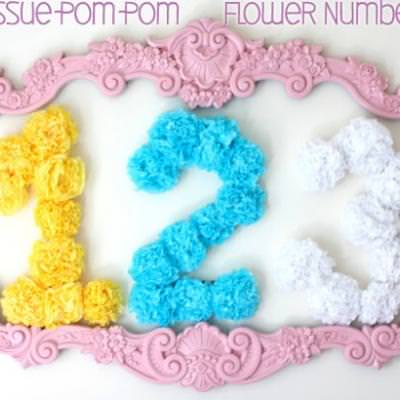 Paper Flowers Birthday Number {birthday decorations}